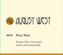 2013 Sierra Mar Vineyard Pinot Noir