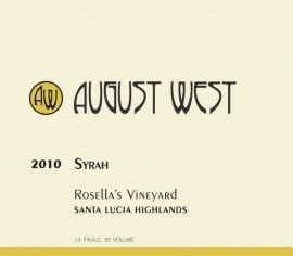 2010 Rosella's Vineyard Syrah